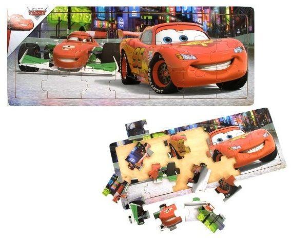 Dřevěné puzzle PLAYME - CARS 21 dílků Playme - Brimarex
