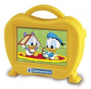 Kubus Clementoni - Disney Baby  - 6 obrázkových kostek v kufříku 40649