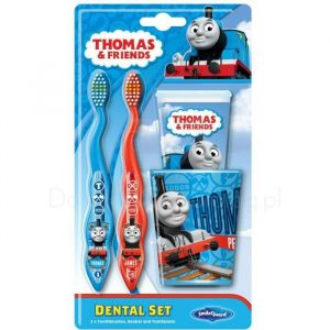 Mašinka Tomáš - sada 2 zubních kartáčků, kelímku + zubní pasty