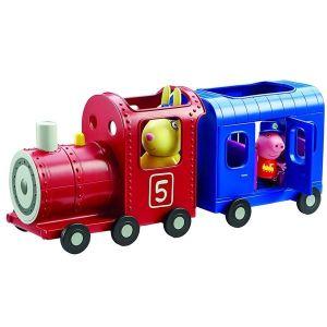Prasátko PEPPA - mašinka s vagónkem a figurkami