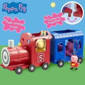 Prasátko PEPPA - mašinka s vagónkem a figurkami TM Toys