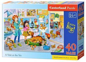 Puzzle Castorland 40 dílků MAXI - Návštěva u veterináře  040186