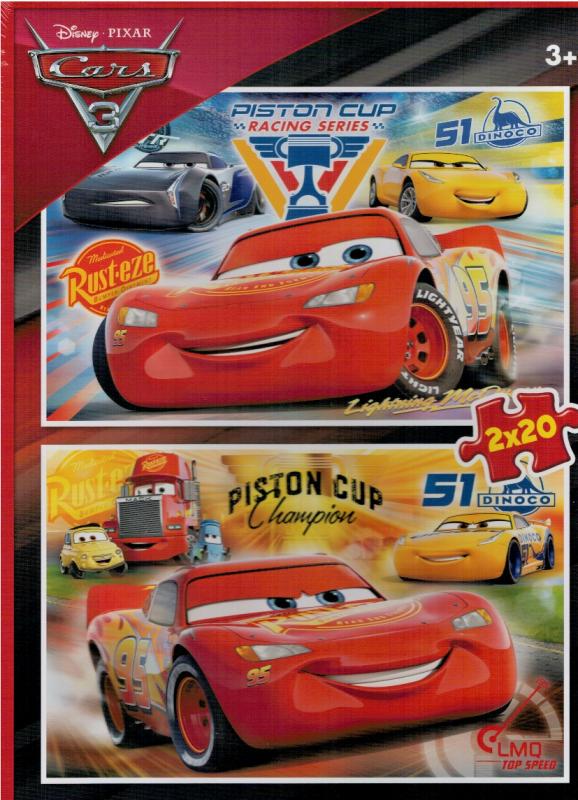 Puzzle Clementoni 2 x 20 dílků - CARS 3 - 07027