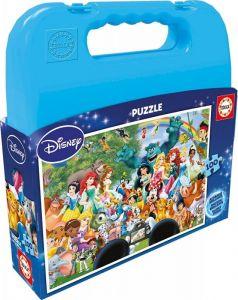 Puzzle Educa 100 dílků v kufříku - Disney  rodina 16517