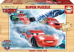 Dřevěné puzzle Educa 100 dílků CARS  16800