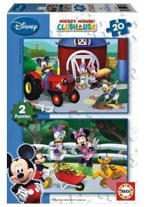 Puzzle Educa  2 x 20 dílků  - Club House - Mickey Mouse   15290