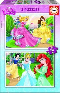 Puzzle Educa  2 x 20 dílků  - Princezny   16846