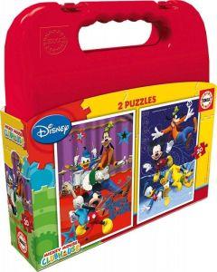 Puzzle Educa  2 x 20 dílků v kufříku  - Mickey Mouse   16510