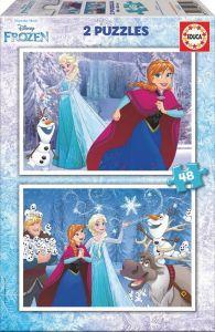 Puzzle Educa 2 x 48 dílků Frozen   16852