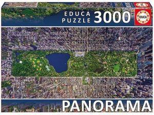 Puzzle EDUCA 3000 dílků  panorama -  Centrální park New York  16781