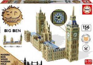 Puzzle Educa 3D dřevěné - Big Ben  Londýn  16971 156 dílků