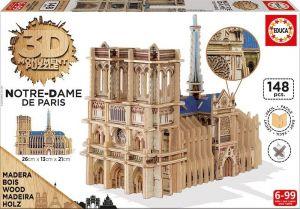 Puzzle Educa 3D dřevěné - Notre Dame   16974 156 dílků