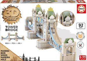Puzzle Educa 3D dřevěné - Tower Bridge    16999   92 dílků