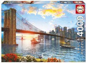 Puzzle EDUCA  4000 dílků -  Dominic Davison -  Brooklynský most 16782