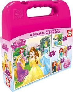 Puzzle Educa 4v1   12 - 16 - 20 a 25   dílků  Princezny   16508