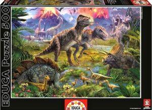 Puzzle EDUCA 500 dílků - Setkání dinosaurů  15969