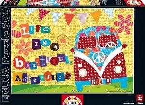 Puzzle EDUCA 500 dílků - Život je krásné dobrodružství   16278