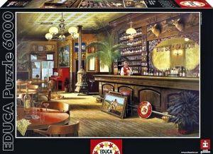 Puzzle EDUCA  6000 dílků - Hiroaki Shioya - Big Sky Saloon  16357
