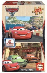 Puzzle Educa dřevěné 2 x 25 dílků - CARS 2   14935