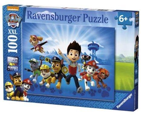 puzzle Ravensburger 100 dílků XXL - Psí tlapková patrola 108992