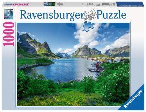 Puzzle Ravensburger 1000 dílků -  Lofoty - Norsko 197118