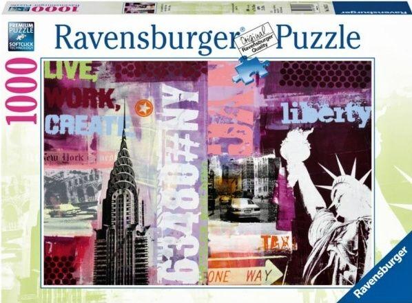 Puzzle Ravensburger 1000 dílků - New York 196135