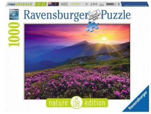 Puzzle Ravensburger 1000 dílků -  Prosluněné horské louky  196081