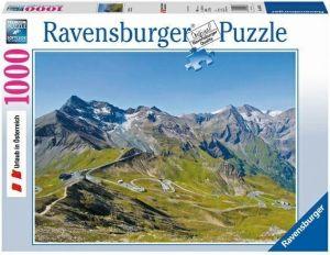 Puzzle Ravensburger 1000 dílků - Rakouské Alpy - Silnice v horách