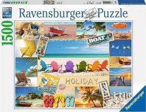 puzzle Ravensburger  1500 dílků - Happy Holiday  163076