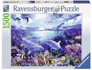 puzzle Ravensburger  1500 dílků - Lassen Svět delfínů 163311