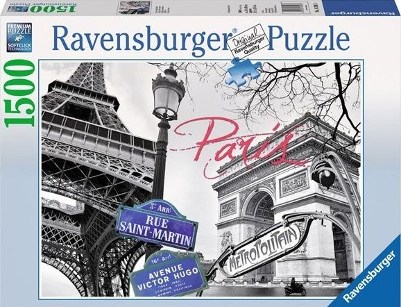puzzle Ravensburger 1500 dílků - Paříž má láska 162963