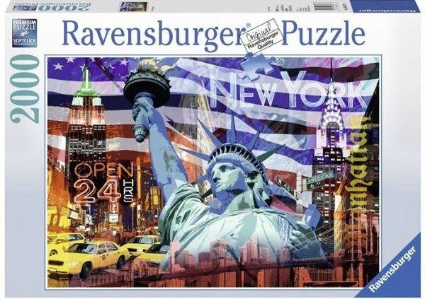 puzzle Ravensburger 2000 dílků New York - koláž 166879