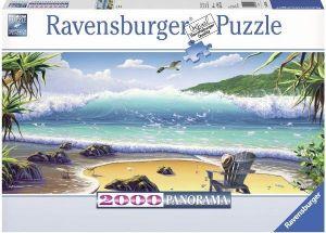 Puzzle Ravensburger 2000 dílků panorama -  Trosečník  167005