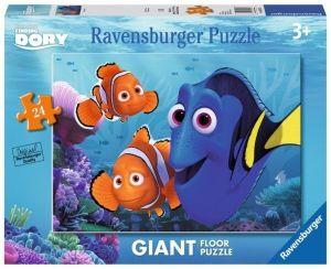 puzzle Ravensburger 24 dílků MAXI  podlahové - Hledá se Dory  054725