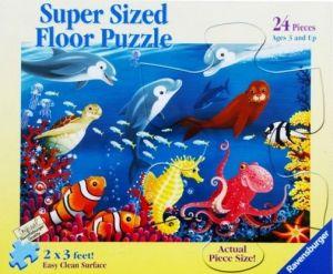 puzzle Ravensburger 24 dílků MAXI  podlahové - Život v oceánu 054565