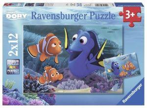 Puzzle Ravensburger  2x12 dílků  Hledá se Dory    076017