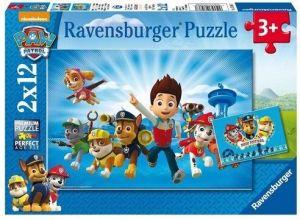 Puzzle Ravensburger  2x12 dílků  Psí Tlapková Patrola 075867