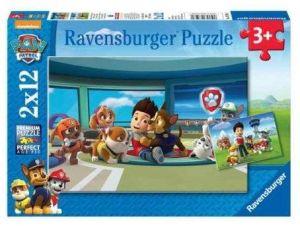 Puzzle Ravensburger  2x12 dílků  Psí Tlapková Patrola 075980