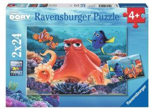 Puzzle Ravensburger  2x24 dílků  Hledá se Dory    091034