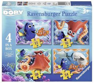 Puzzle Ravensburger 4v1  12,16,20,24 dílků - Hledá se Dory  073993