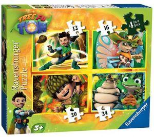 Puzzle Ravensburger 4v1  12,16,20,24 dílků - Tree Fu Tom  073238