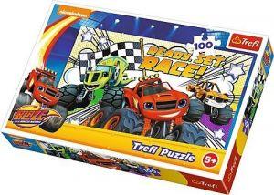 Puzzle Trefl 100 dílků - Plamínek a čtyřkoláci - Blaze 16301