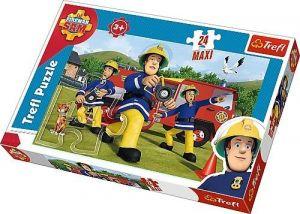 Puzzle  Trefl  24 MAXI dílků  -  Požárník Sam  14245