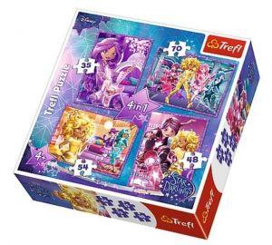 Puzzle   Trefl  35, 48, 54 a 70  dílků - Star Darlings - Hvězdní kamarádi   34275