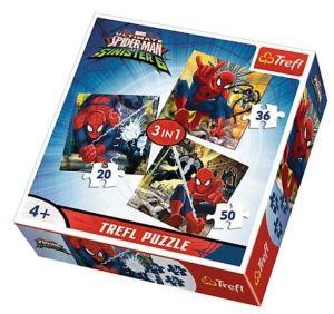 Puzzle Trefl 3v1 - 20 , 36 a 50  dílků - Spiderman  -  puzzle   Trefl 34822