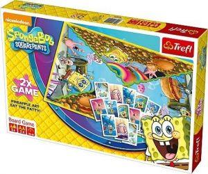 Trefl hra Spongebob 2 v 1 Ananasová tvořivost + Sněz hambáč