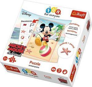 Trefl - Oboustranné smyslové puzzle Mickey Mouse  15 dílků - 24004