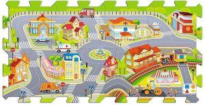 Trefl - Pěnové puzzle - koberec - ve městě 60696