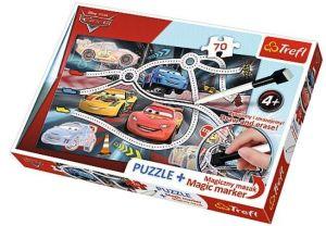 TREFL Puzzle s magickým fixem 75110 CARS - Auta  70 dílků