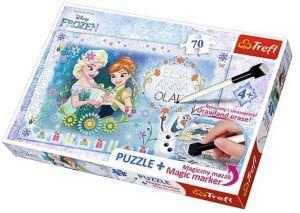 TREFL Puzzle s magickým fixem 75111 Ledové království 70 dílků